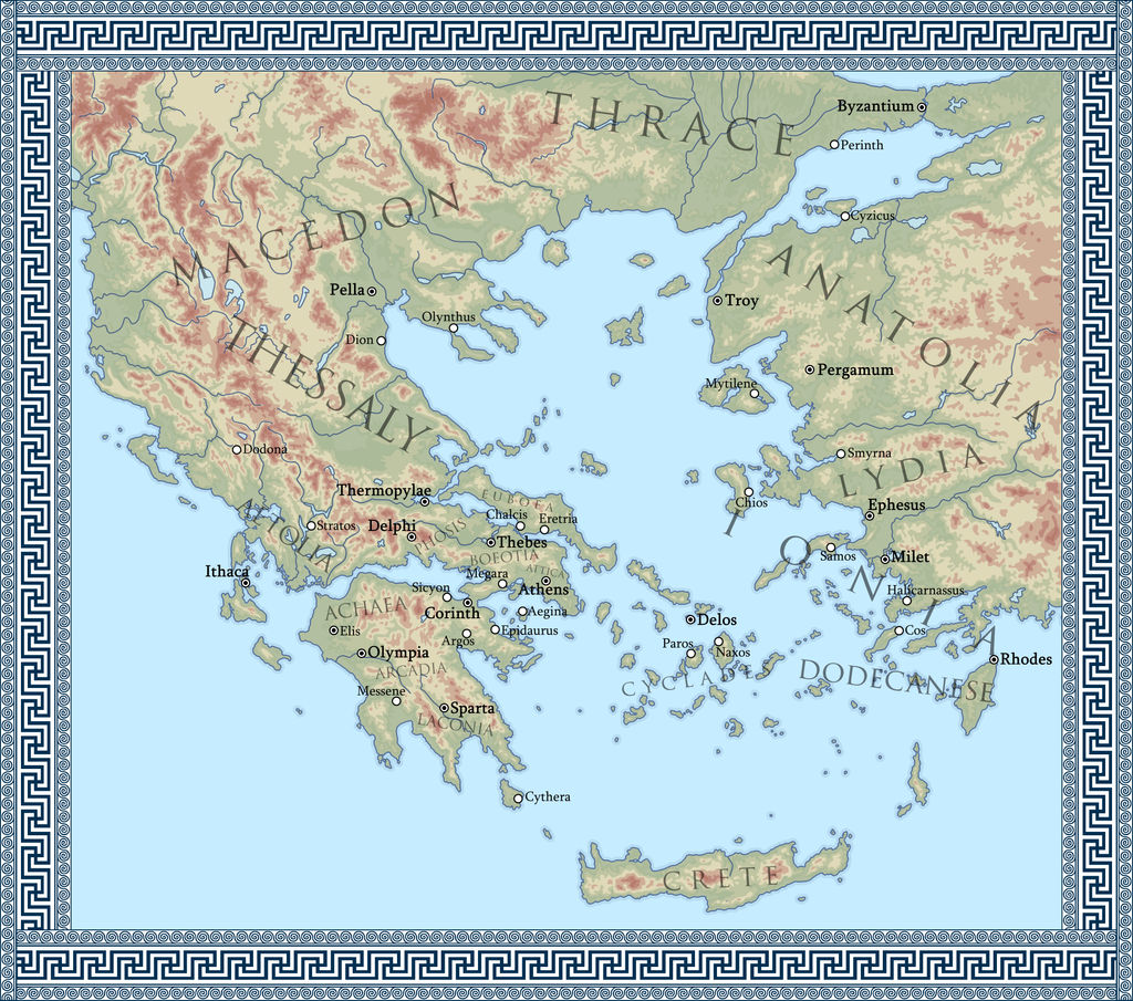 Map Of Ancient Greece By Mihaly Vadorgrafett On Deviantart