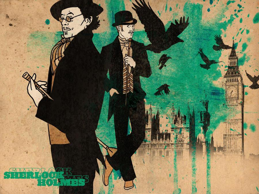 Sherlock Holmes Wallpaper I By Paperflower86
