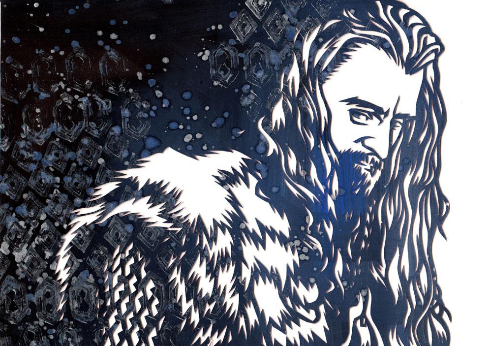 Thorin Oakenshield Papercut by Paperflower86