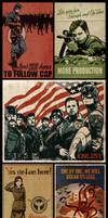 Captain America Propaganda Poster Collection