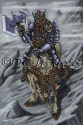 Dwarf warrior and feldunost by ArtByDiges