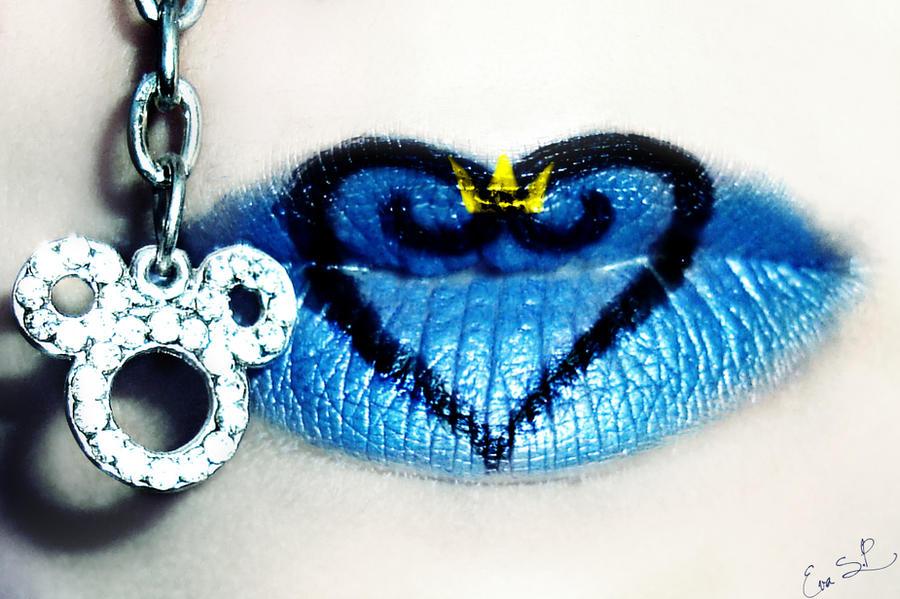Kingdom Hearts lips by Chuchy5