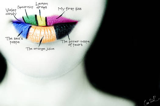 Unforgettable tastes lip art