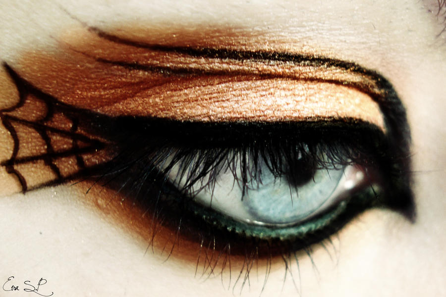Simple Halloween makeup by Chuchy5 on DeviantArt - Easy Halloween Eye Makeup