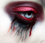 Bathory Vampy makeup