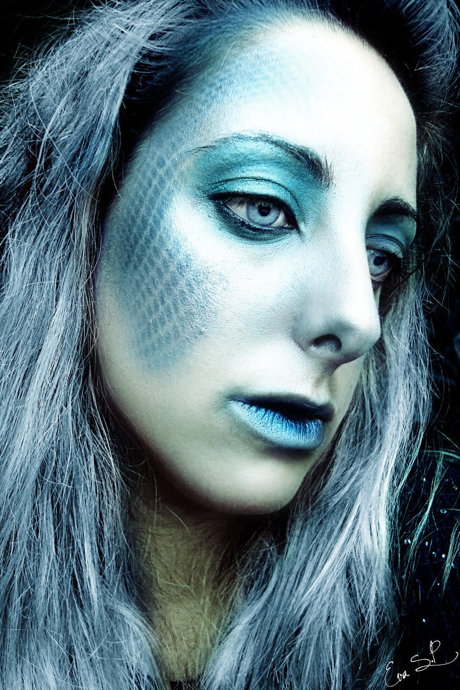 The Sad Mermaid (Halloween makeup) by Chuchy5