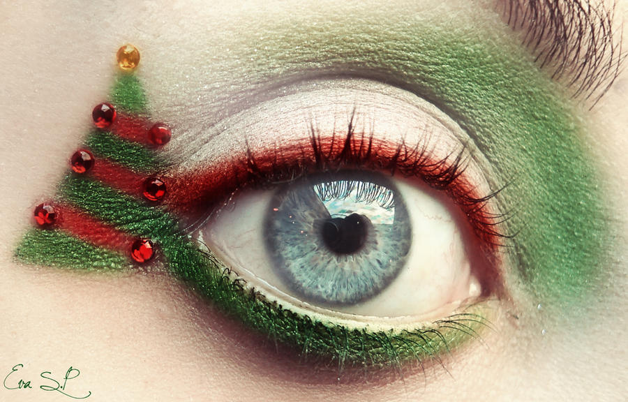 Funny Xmas makeup by Chuchy5