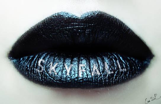 Skyfall Bond Lip Art (my 50th lip art)