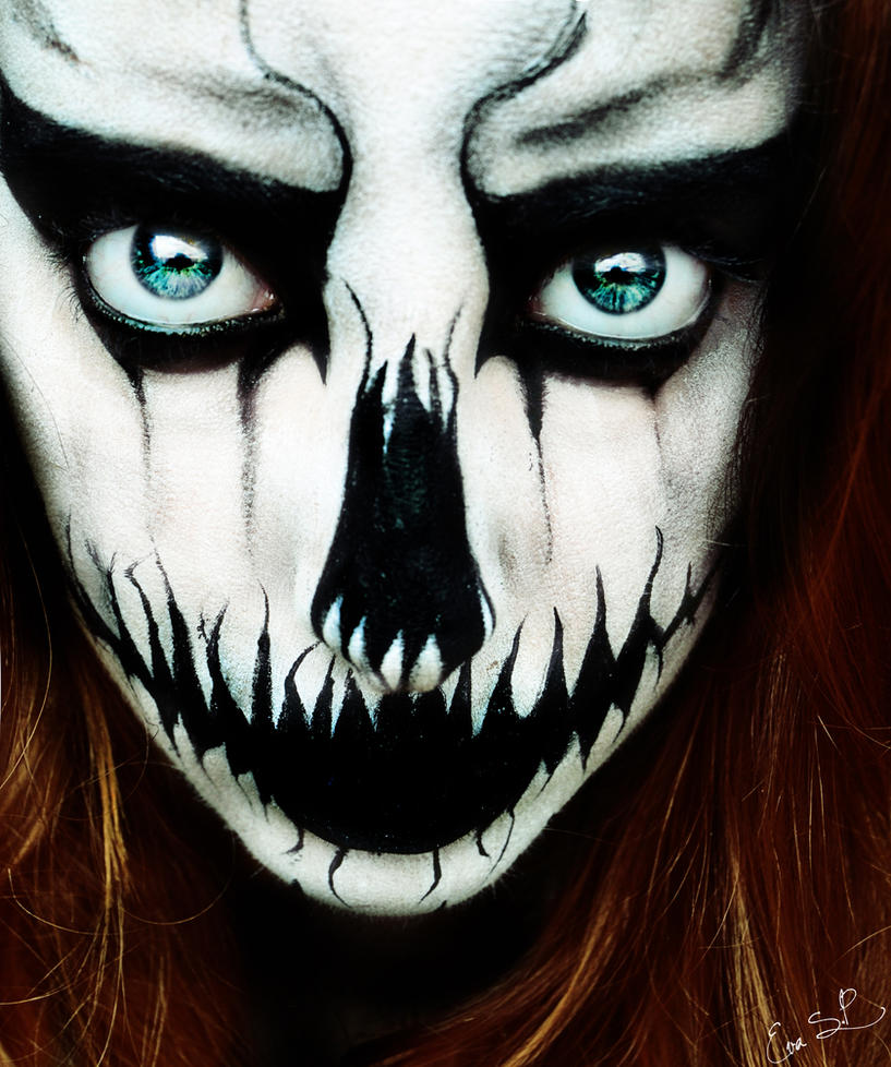Halloween Face Paints Creepy Girls