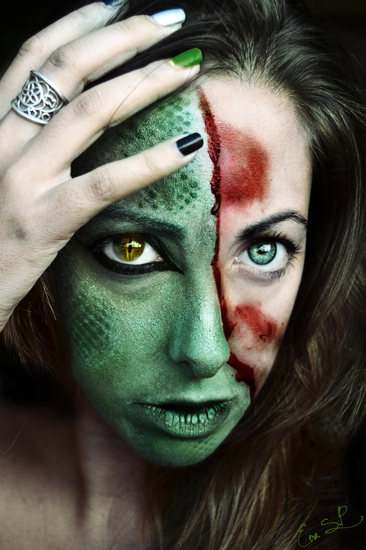 Lizard Lady Halloween Makeup by Chuchy5