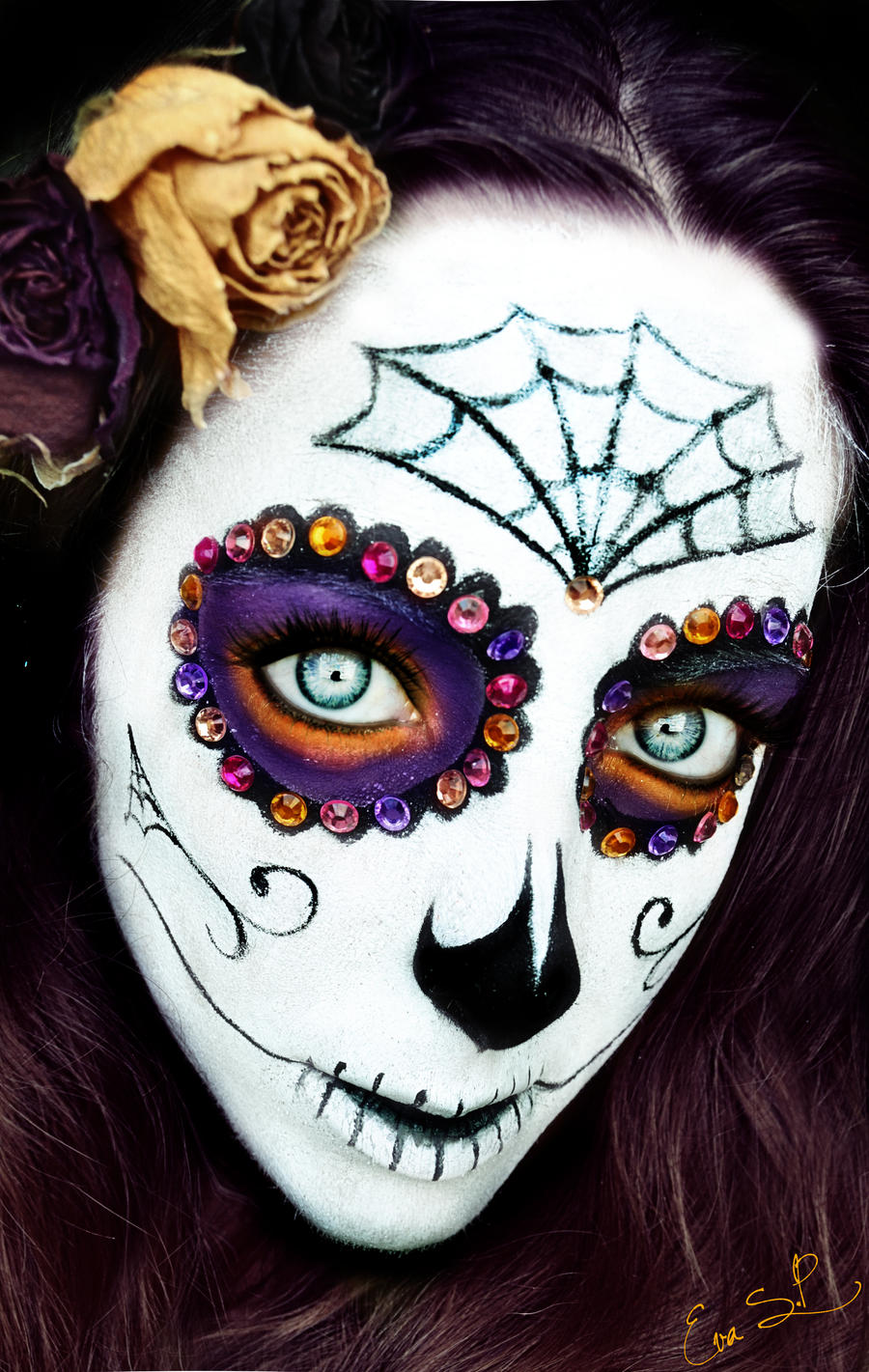 Sugar Skull Halloween Makeup by Chuchy5