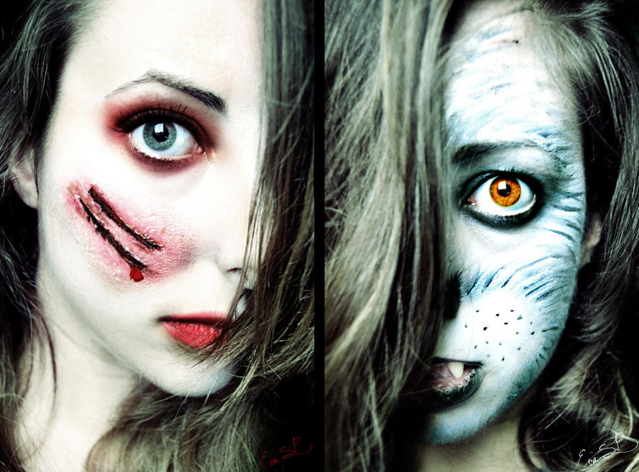 Red Riding Hood vs. The Wolf Halloween Makeup by Chuchy5 on DeviantArt