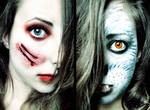 Red Riding Hood vs. The Wolf Halloween Makeup