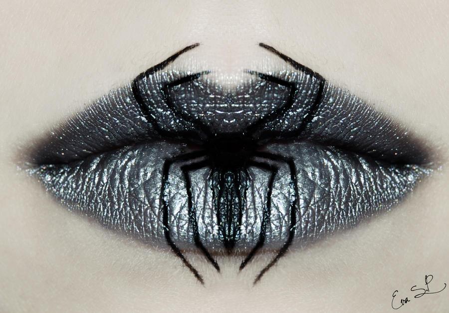 Venom lip art by Chuchy5