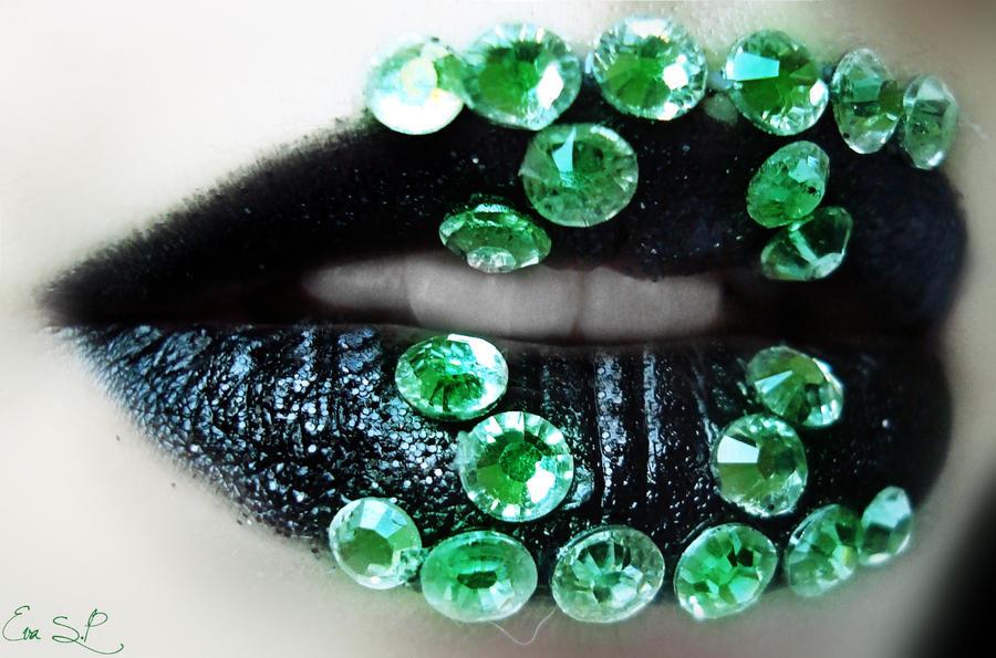 Green Lantern Lip Art by Chuchy5