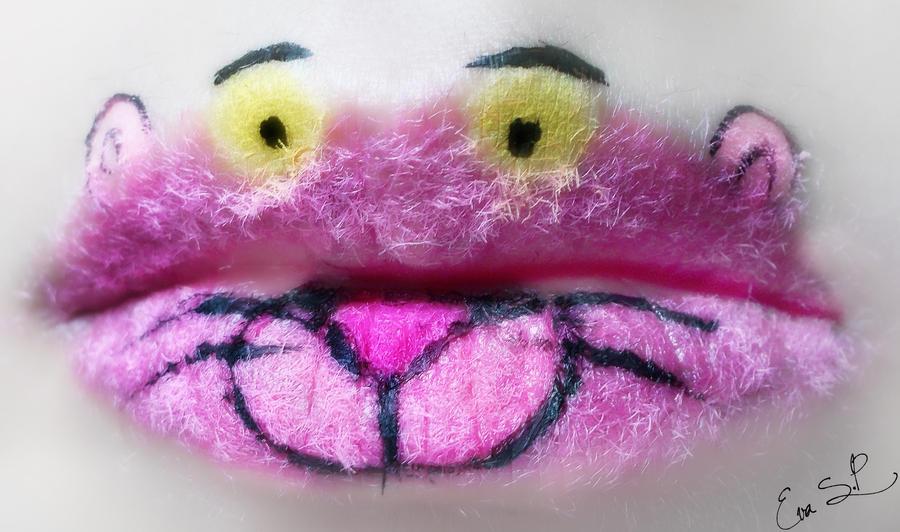 Pink Panther Lip Art by Chuchy5