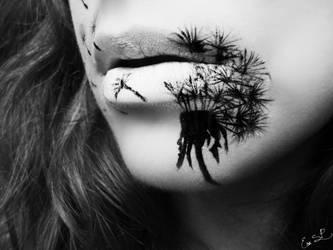 Dandelion Lip Art by Chuchy5