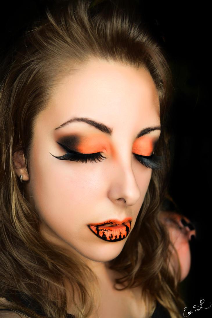 Maleficent Face Paint