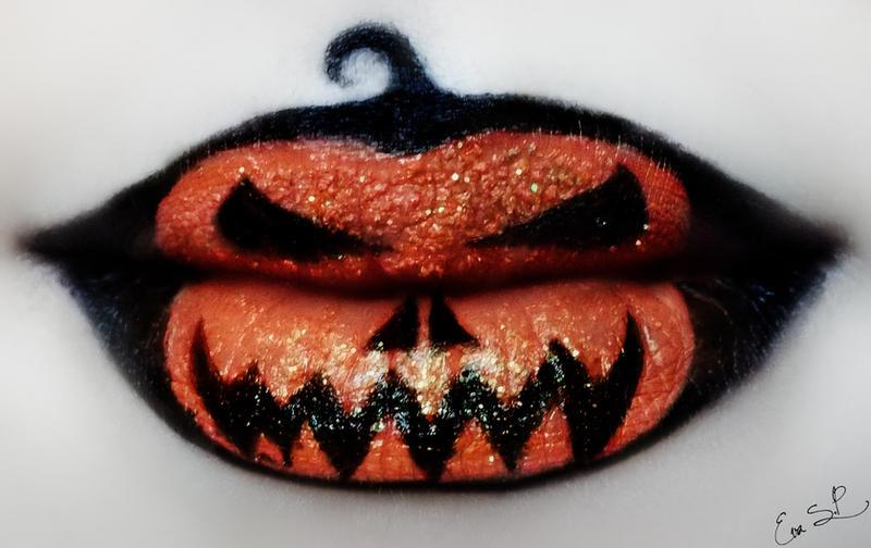 Jack O'Lantern Lip Art by Chuchy5