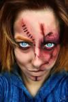 Chucky Halloween MakeUp