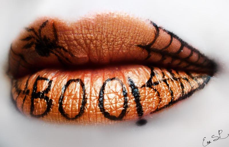 Boo Spiderweb Halloween Lip Art By Chuchy5 On Deviantart
