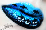 Halloween 2015 Lip Art Pumpkin