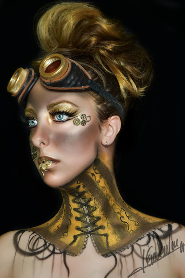 Steampunk Body Paint Nude