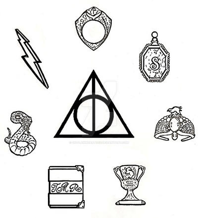 Harry Potter Deathly Hallows And Horcruxes By Outlawheart1313 On
