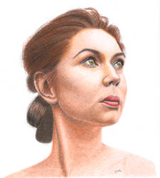 Colored Pencil portrait of Young Lady