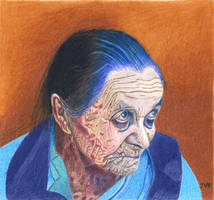 Old Woman in Blue