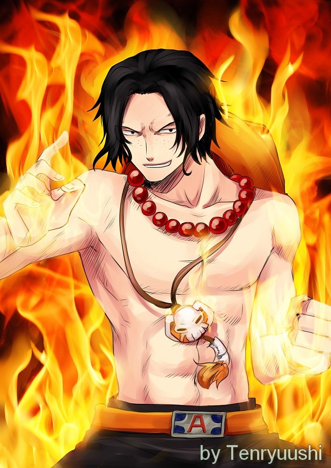 Portgas D Ace One piece by Tenryuushi
