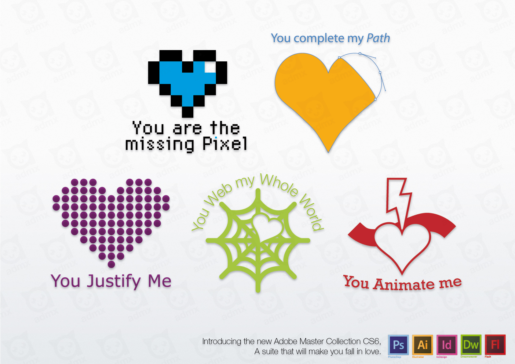 Adobe - Your favorite suite heart by admx