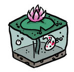 Minecraft Cube Lily Pond