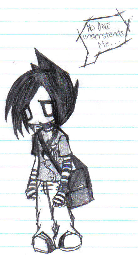 The Emo Kid by DementedTragedy