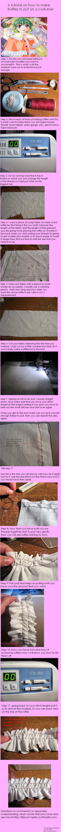 How to make ruffles by BijousCosplay