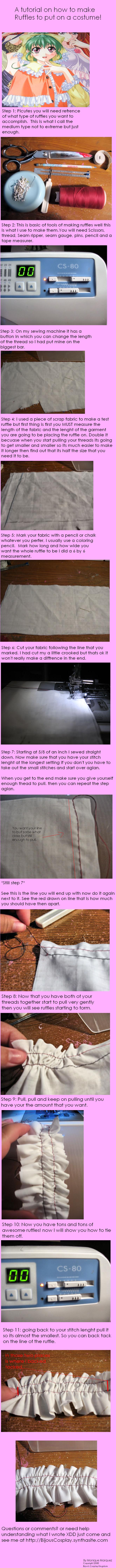 How to make ruffles by BijousCosplay