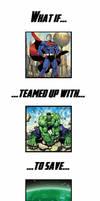 Superhero Team-Up Meme: Superman and Hulk by Jyger85