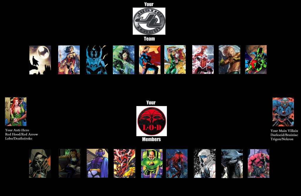 My Justice League vs LOD by Jyger85