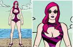KINDA KINKTOBER Entry 21 - Throttle Swimsuit by Jyger85