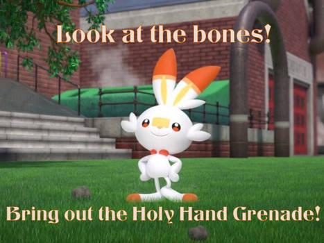 Scorbunny Holy Hand Grenade Meme