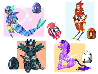 Adoptables December 2018 by VendettaPrimus