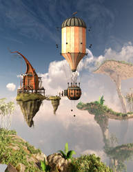 Visitors to Shaman Island by Oblomovomich