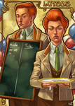 Fan Art - The Lutece Twins