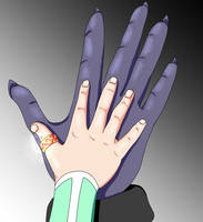 Cu and Connla hands by Benit149