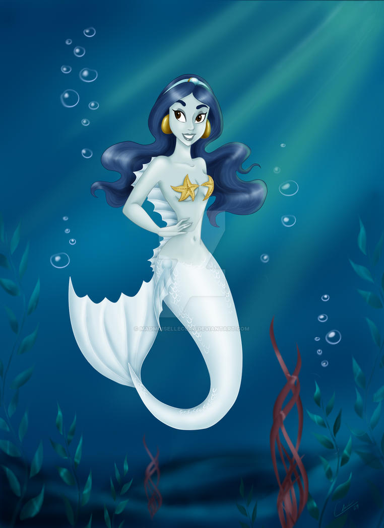 Jasmine Mermaid 2: Commission by madmoiselleclau