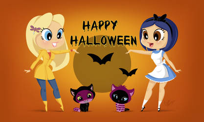 Alice and Coraline Halloween