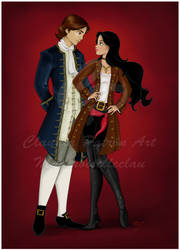 Jessie and Johnny: Commission by madmoiselleclau