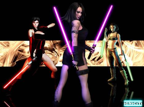 Lightsaber Girls