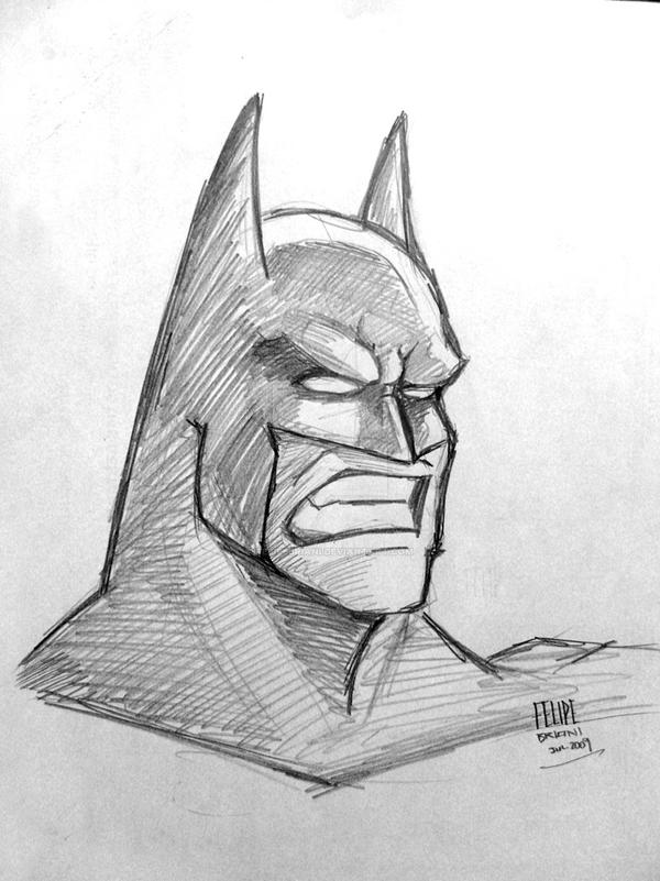 Batman fast pencil sketch by felipebriani