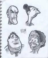 sketchbook - cartoon faces by FelipeBriani